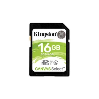 "Memóriakártya, SDHC, 16GB, CL10/U1, 80/10MB/s, KINGSTON ""Canvas Select"""